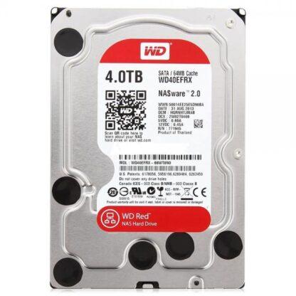Жесткий диск S-ATA 3.5', 4TB, Western Digital Red, WD40EFAX, 256Mb, 5400rpm, 6Gb/s (для СХД)