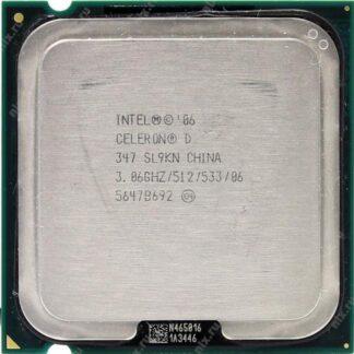 Процессор, S-775, Intel, Celeron D 347, 3.06 GHz, 533MHz, 512KB, EM64T, tray