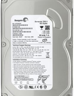 Жесткий диск SATA 3.5', 160 GB,Seagate,ST3160815AS,Barracuda 7200, 2MB,7200rpm, 3,5'