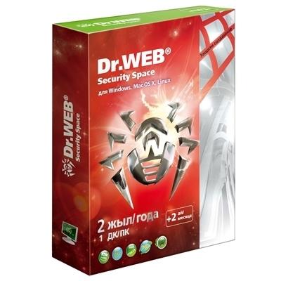 Антивирус Dr. Web Security Space SILVER 1ПК/ 2 года (+2 месяца подарок) Коробка (BHW-BK-26M-1-A3)