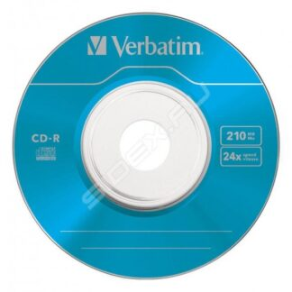 CD-R Disk Verbatim, 8cm, 1-24x, 210Mb, pack 5