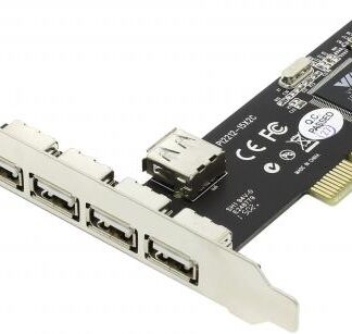 Контроллер PCI, USB 2.0, 4-ext+1-int, Via