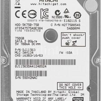 Жесткий диск SATA 2.5'', 750GB, Hitachi HTS727575A9E364 (б.у.)