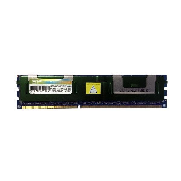 ОЗУ DDR3 8GB, ECC Reg, PC3-10600, 1333MHz, Silicon Power SP008GBRTE133M0A (с радиатором)